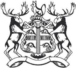 Elk Crest embroidery design