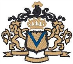 Royal Crest4 embroidery design