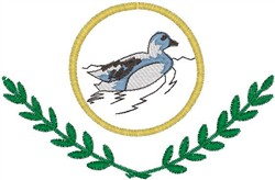 Duck Crest embroidery design