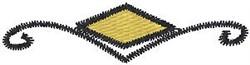 Yellow Diamond Crest embroidery design
