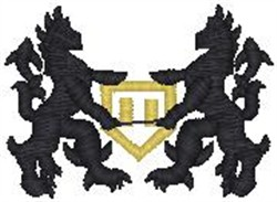 Gold Lions Crest embroidery design