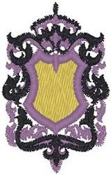 Flourish Shield embroidery design