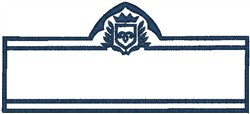 Blue Outline Crest embroidery design