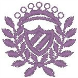 Pink Crest101 embroidery design