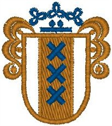 Royal Crest110 embroidery design