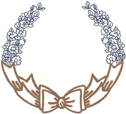 Bow Of Flowers embroidery design