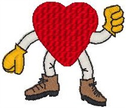Heart Man embroidery design