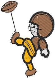 football kicker embroidery design