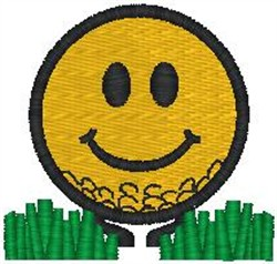 Smiley Ball embroidery design