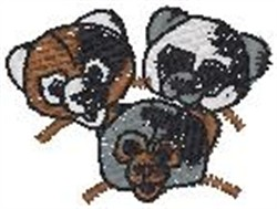 3 Teddies embroidery design
