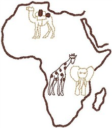 Africa embroidery design