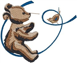 Bear and Sparrow embroidery design