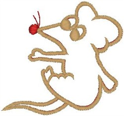 Mouse Outline embroidery design