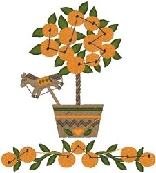Orange Tree embroidery design