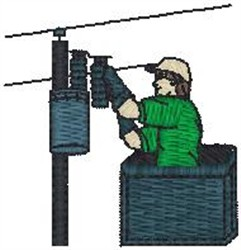 Electrician embroidery design