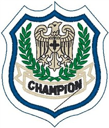Champion Shield embroidery design
