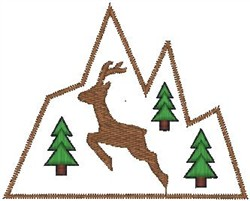 Deer Mountain embroidery design