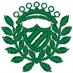 Crest084 embroidery design