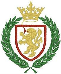 Lion Crest105 embroidery design