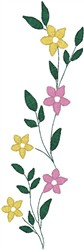 Tall Skinny Flower Plant embroidery design