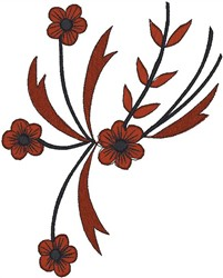 Curvy Flowers embroidery design