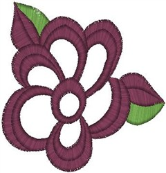 Fancy Flower Blossom embroidery design
