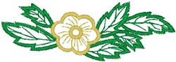 Flower with Leaves embroidery design