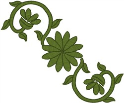 Green Blossoms embroidery design