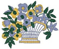 Flowers Overflowing Pot embroidery design