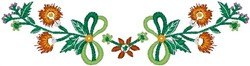 Tropical Flower Decorative Scroll embroidery design