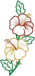 Tropical Flower Blooms embroidery design