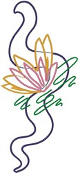 Artistic Flower Outlines embroidery design
