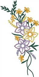 Assorted Flowers embroidery design