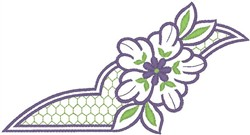 Purple Flower Design embroidery design