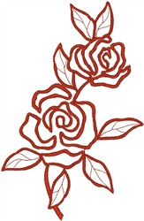 Implied Red Roses embroidery design