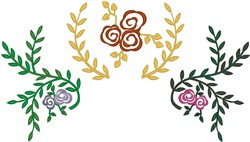 Flowers with Vines embroidery design