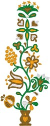 Flowers in Tiny Pot embroidery design