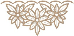 Flower Outlines embroidery design