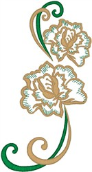 Flowers and Ribbons embroidery design