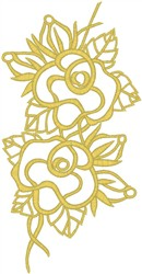 Roses and Leaves embroidery design
