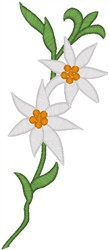 Flowers on a Stem embroidery design