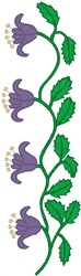 Twin Flowers on a Stem embroidery design