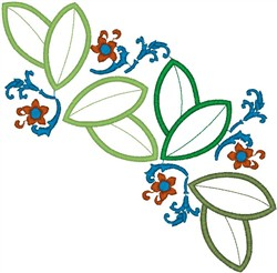 Little Flowers Big Leaves embroidery design
