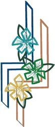 Decorative Flower Outline embroidery design