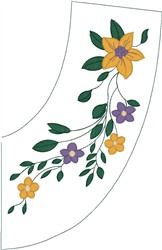 Flower Vine Decoration embroidery design