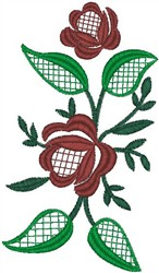 Flowers on Leaves embroidery design