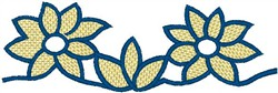 Decorative Flower Scroll embroidery design