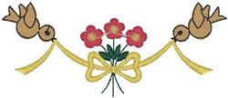 Birds Tying Bouquet embroidery design
