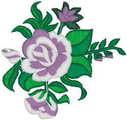 Flower on Leaves embroidery design