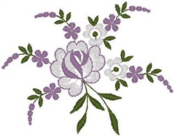 Assorted Flowers and Leaves embroidery design